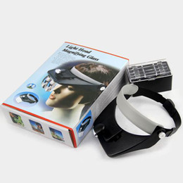 Wholesale 4 lenses LED Lamp Head Light Flashlight Headlamp Magnifying Glass Head Magnifier High quality