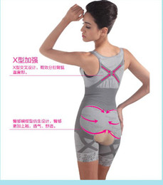 Wholesale Fashion Bamboo Charcoal Body Shaper Underwear Slimming Suit bodysuits