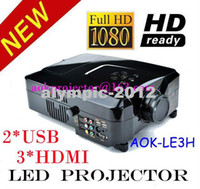 LCD 1080i home projector - Multimedia projector p i p Full HD Home Theatre LED Projector Lamp Life support