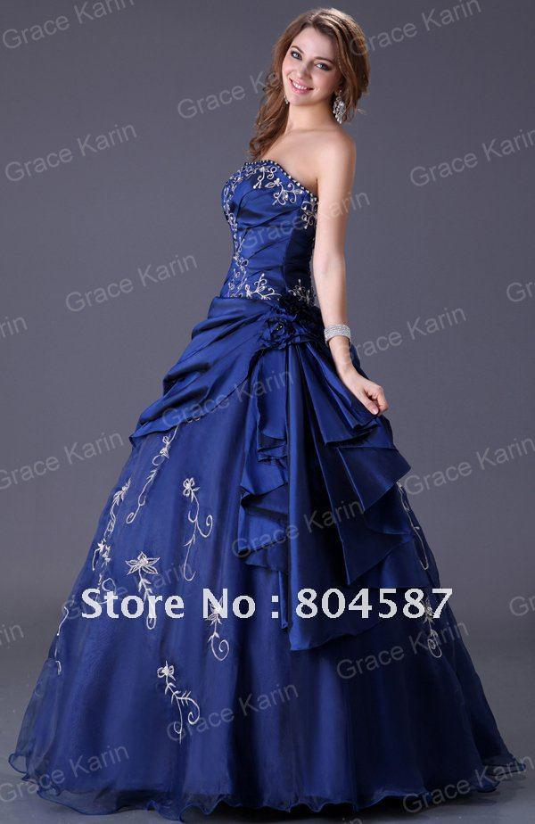 Wedding Dress Pictures Show Pictures of Gown Royal Blue Wedding ...