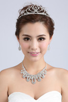Alloy alloy images - 15 New Actual Image In Stock Bridal Rhinestone Jewelry Necklace Earring Set