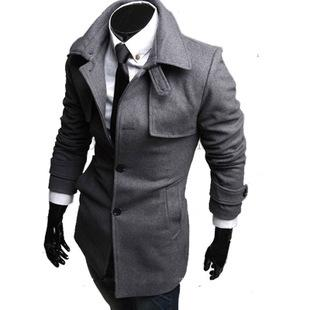 Online Cheap Autumn And Winter Fitted Men's Cardigan Compound Long