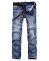 Wholesale Hot Selling Men s Long Straight Jeans Mens Casual Jeans Designer Jeans Loose Strouser