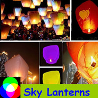 Christmas flying lanterns paper lantern Kongmingdeng SKY LANTERNS CHINESE Fay Balloon Christmas gift Wishing Lamp Sky Lanterns 10pcs