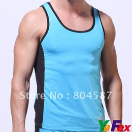 Wholesale Retail Mix Color Summer Men Sport Tops Sleeveless Casual Tank Tops Men CL3177