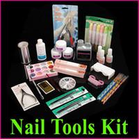 Manicure Kit acrylic liquid - Professional Manicure Pedicure Nail Art Salon Tool Full Acrylic Liquid Powder Glue Kit Set Free Ship