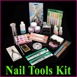 Wholesale Professional Manicure Pedicure Nail Art Salon Tool Full Acrylic Liquid Powder Glue Kit Set Free Ship