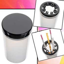 Wholesale Nail Art Tip Brush Holder UV Gel Pen Polish Remover Cleanser Cup Kit Bottle Tool