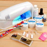 Wholesale Professional Full Set UV Gel Kit Starter UV Nail Art Set W Curing UV Lamp Nail Drye