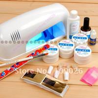 Wholesale Professional Full Set UV Gel Kit Starter UV Nail Art Set W Curing UV Lamp Nail Drye