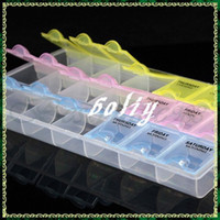 Manicure Kit No Set & Kit 7 Days AM NOON PM Pill Grugs Medicine Tablet Box Dispenser Holder Case Organizer