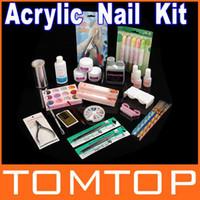 acrylic nail kit - Professional Full Acrylic Liquid Powder Glue Nail Art Kit Set Salon Tools Dropshippin