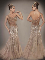 Wholesale Custom Made New Sequin Long Length One shoulder Formal Gown Mermaid Prom Evening Dresses D
