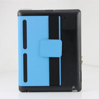 Wholesale Toothpick Leather case for iPad2 with speaker hole N air vents Stand pouch cover DHL