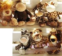 achat en gros de nici lion jungle-NICI 16cm Peluches Doll Pendentif Girafe Lion Tiger cerf animal de la jungle Série peluche