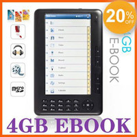 Wholesale HOT inch ebook reader GB e book reader MP3 FM radio