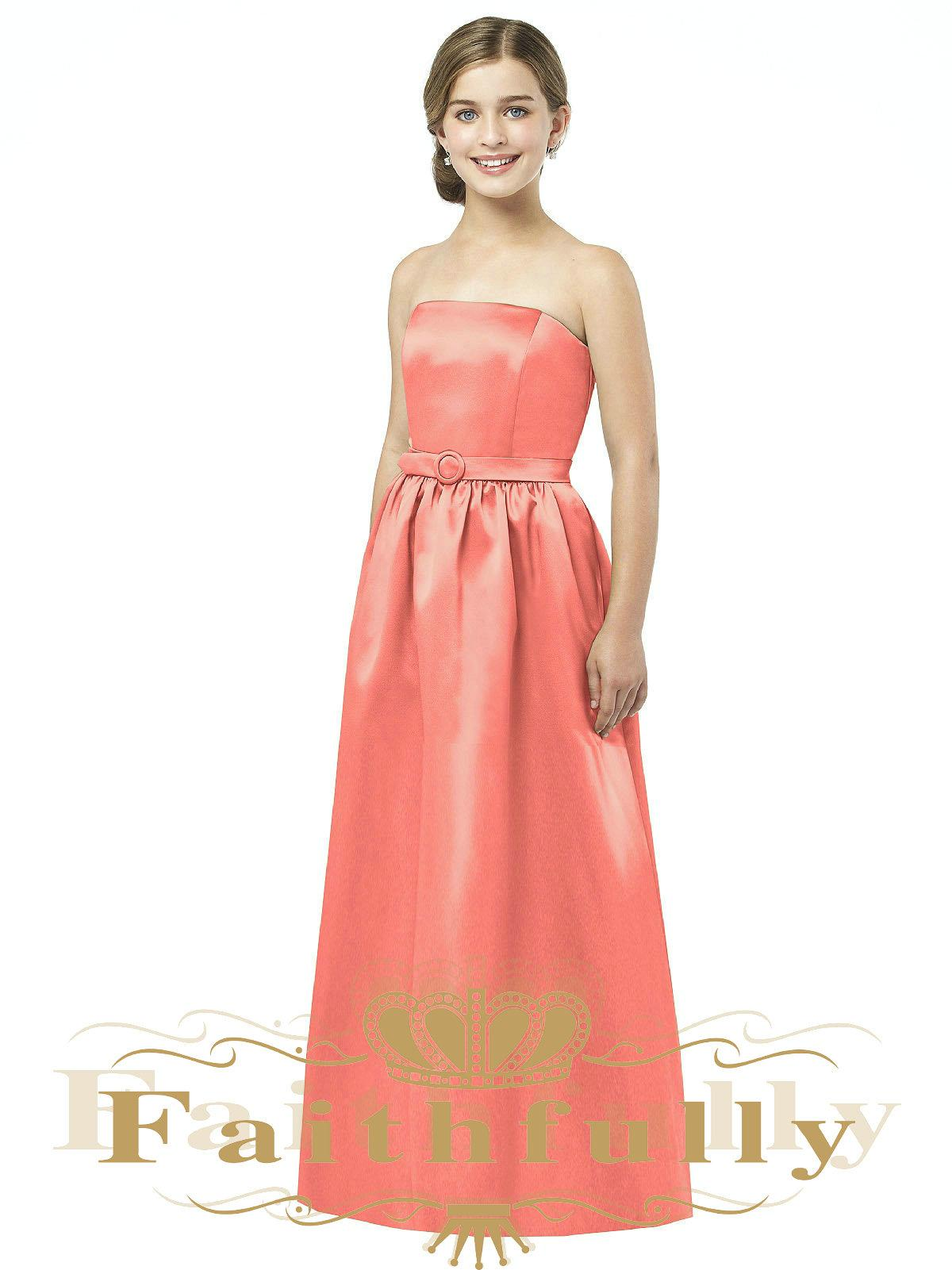 Junior bridesmaid dresses in coral amore wedding dresses junior bridesmaid dresses in coral 108 ombrellifo Images