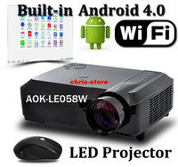 Wholesale Android Wifi Portable digital tv Led Projectors D Full HD Lcd Projector W Led lamp up to