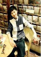 Wholesale 2012 Korean Mens Shirt Japanese Style Slim Long sleeved Wavelet Point Shirt Fashion Clothing XHKS