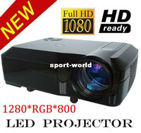 LCD 1080i home projector - 1280 Support i p HD Home Theatre LED Projector Lamp Life HRS Wii XBox PS3 Bluray