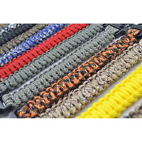 Wholesale Custom Strand Paracord Parachute Survival Bracelets Hand Made with Plastic Whistle
