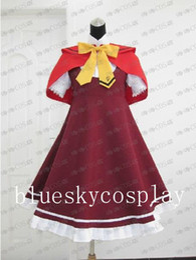 Wholesale Ookami san to Shichinin no Nakamatachi akai ringo Cosplay Costume Japanese Anime Fancy Dress Custom Any Size Halloween