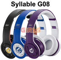 Wholesale Syllable G08 Wireless Bluetooth Noise Cancelling On ear mm headset Computer Headphones girls