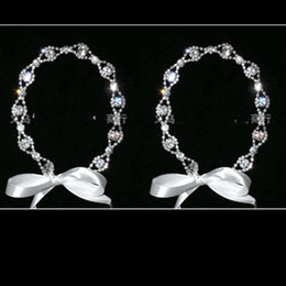 Free Shipping High Quality Crystal Wedding Bridal Hairband With Ribbon Also can use as Necklace