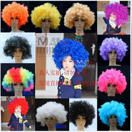 Wholesale fans explosion Cosplay clown wig mascot Photography props dance clown curly