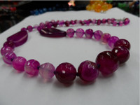 Women's beaded sculptures - Natural stone fashion red agate jewelry design sculpture surface Agate Bead Necklace