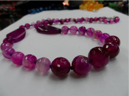 Natural stone fashion red agate jewelry design sculpture surface Agate Bead Necklace 1 pcs