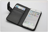 Wholesale For Iphone Th Smooth Wallet Style Slim PU Leather Flip Case Cover With Card Holder Retail