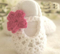 Wholesale 15 off Crochet Baby Booties Baby Girl Shoes Ballerina Baby Shoes to months pairs