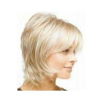 straight blonde wigs short hair - 2011 Stylish Short blonde curly human made hair wig wigs