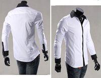 White Gray Fashion Men' s Shirts Business Groomsman Groo...
