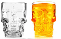 Wholesale crystal skull glassware new pirate glass cup death s head glass cup Creative Home