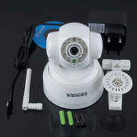 Wholesale White LED WIFI Wireless IP Webcam Camera Night Vision Cam CMOS pixel