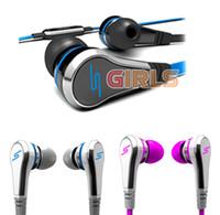 La promoción caliente SMS Calle sincronización de audio auriculares 50 céntimos Auriculares In-Ear auriculares por EMS 392 niñas