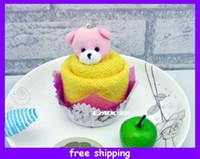 Wholesale Unique Cake Towel Face Hand Towel Creative Birthday xmas Gift Decoration cm
