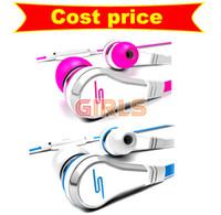 Wholesale High resolution in ear Headsets SMS Audio Street By cent Headsets Earphone by EMS girls