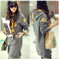 Wholesale Women Hoody Plus Size Clothing Hooded Letter Pullover All match Plus Velvet Long Hoodies