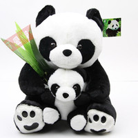 Wholesale lovely panda soft toy panda mother and panda baby birthday gift