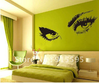 Wholesale Retail Hot Selling Sexy Big Eyes wall Stickers Decor Decal vinyl stickers removable