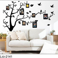 Wholesale quot off per order Photo Tree Hot selling D Sticker DIY Decoration Fashion Wall