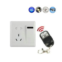 Wholesale 8GB Motion Detection New Switch Socket Spy Camera with Remote Control spy gadget