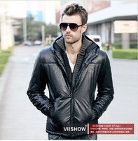 Men Waist_Length Cotton Viishow 1212 jacket cotton male thickened tide off two men machine wagon men dynamica male