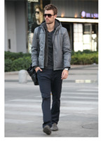Men Waist_Length Cotton Viishow 1212 jacket cotton male thickened tide off two men machine wagon men dynamica male Gray