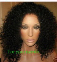 Wholesale Brazilian remy human hair lace front wigs or glueless wig afro jerry kinky curl wave on sale