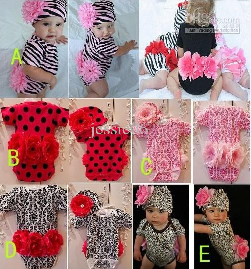 Nfant Newborn Baby Girl Cotton Jumpsuit Romper   Flower Hat Kids ...