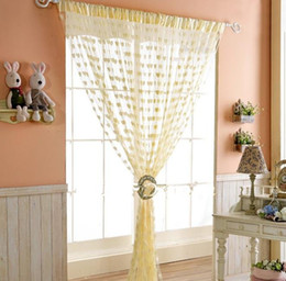 Wholesale hanging curtain Heart shape curtain Decoration curtain window blind different colors